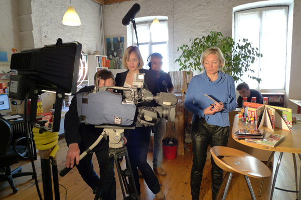 Journée de tournage avec l'équipe de France 3