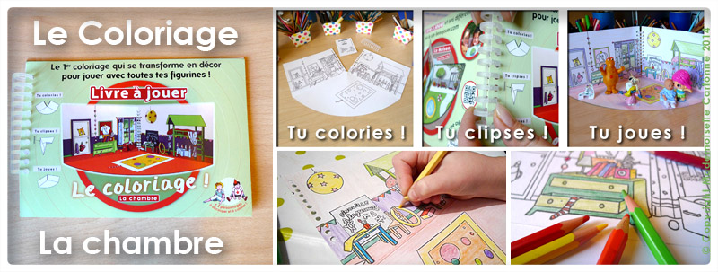 Le 1er coloriage qui se transforme en décor