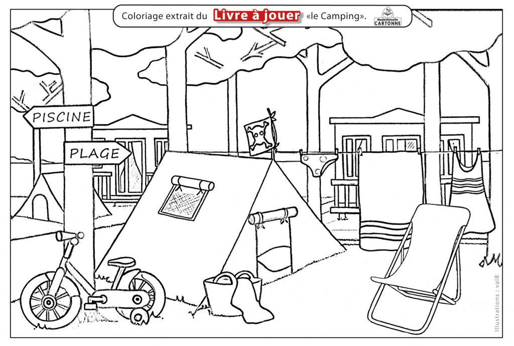 Coloriage Livre à Jouer Le Camping