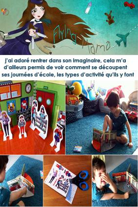 Flying Mama et le livre de Mademoiselle Cartonne